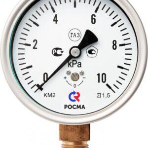 Манометры для измерения низких давлений газов КМ-22Р(0-10kPа) М20х1,5 .1,5