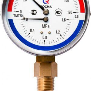 Термоманометры радиальные ТМТБ-31Р.1(0-120С)(0-0,25MPa)G1/2.2,5