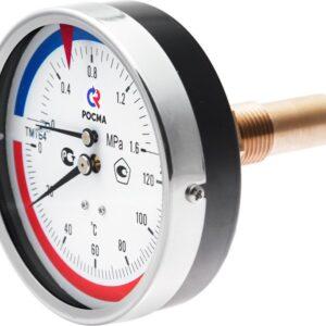 Термоманометры осевые ТМТБ-41Т.1(0-120С)(0-0,4MPa)G1/2.2,5